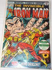 IRON MAN, THE INVINCIBLE # 81 MANDARIN BAG&BOARD BRONZE AGE (Dec 1975, Marvel)