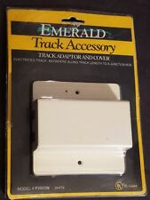Emerald Track Lighting #P2003W Track Adaptor & Cover White New