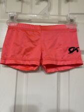 Gk Elite booty Shorts Leotard Neon Orange Dance Gymnastics Child Xs