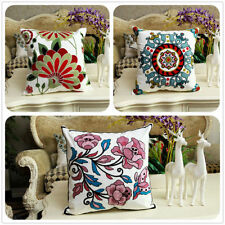Cotton Blend Embroidered Decorative Cushion Covers