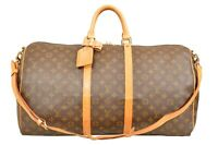 Louis Vuitton Monogram Keepall 55 Bandouliere Travel Bag Strap M41414 - YG00748