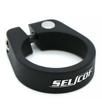 Selcof Forged Alloy Lightweight Seat-Post Clamp 34.9mm - 35mm, Satin Black