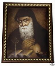 New Saint Charbel Makhlouf Unique Plaque Padded Wall Picture Holy Land 11.4""