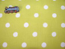 Cath Kidston 45cm square Large Spot Neon yellow lightweight fabric new