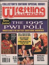 Pro Wrestling Illustrated June 1995 the 1995 PWI Poll EX 011916DBE