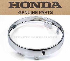Chrome Headlight Trim Ring VT750 VT1100 Many Geniune Honda (See Notes) #S111