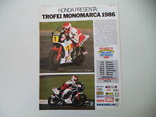 advertising Pubblicità 1986 MOTO HONDA VF 500 F-II F II/NS 125 F