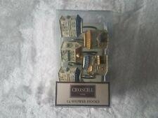 Croscill Home Set Of 12 Shower Hooks Village Square Decorative Hook/Ring 21857