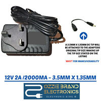 "UK12V 2A / 2000mA AC-DC Power Adapter Charger for GEO Flex 11.6"" Tablet Laptop"