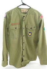 1950s BSA Boy Scouts of America Quartermaster Enon OH Long Sleeve Uniform Shirt
