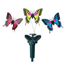 Solar Powered Fluttering Fly Dance Butterfly Garden Yard Balcony Flowerpot Decor