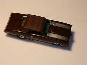 Original Aurora Brown GTO convertible silver stripes on hood open rivet chassis