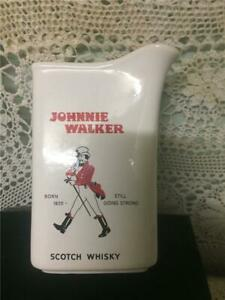 Vintage 1960s JOHNNIE WALKER Red Label Scotch Whisky Jug.  Florenz Pottery