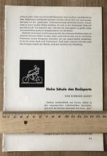 Radsport Radfahren 1954 Kunstradfahren Radball Ballsport Radfahrer Fahrrad  314