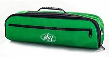 SKY Brand High Quality Flute Hard Case COVER with Pocket/Handle/Strap(Green)