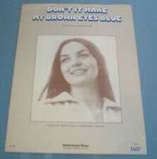 1977 Sheet Music Crystal Gayle Don't it Make My Brown Eyes Blue Country Music
