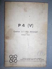 PERKINS moteur P4  (V) monté sur renault 2T5 2163 : instructions pour adaptation