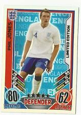 Match Attax Inglaterra Euro 2012 Edición Limitada Phil Jones