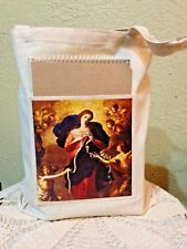 """NEW """"OUR LADY UNTIER of KNOTS"""" Canvas TOTE BAG with Pocket 13x14"""" Lovely"""