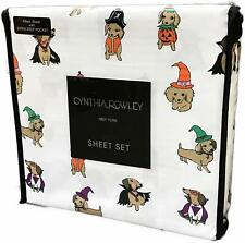 Dachshund Dogs Sheet Set Doxies In Halloween Costumes Cynthia Rowley New