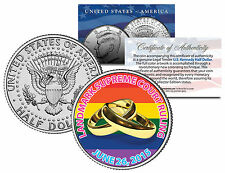 Gay Pride MARRIAGE EQUALITY Colorized 2015 JFK Half Dollar US Coin Wedding Rings