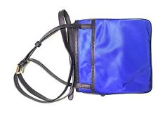 Micheal Kors Small Flat Crossbody Cobalt/Black Bag