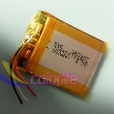 3.7V 3wire 350mAh 362937 Li Polymer Li-Po Rechargeable Battery For Bluetooth GPS