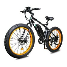 Electric Fat Tire Bike Beach Snow Bicycle City e-bike 36v 500w Black/Orange New