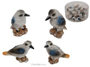 24pc Miniature Kookaburra Bird Figurine Garden Statue Cake Decoration