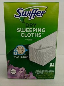 Swiffer Dry Sweeping Pad Refills, Multi Surface, Lavender Febreze 52 Count. New