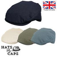 Linen Flat Cap Lightweight Summer Cotton Golf Bowling Outdoor Sports Sun Hat