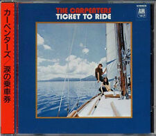 CARPENTERS Ticket To Ride JAPAN 1st CD 1986 D32Y3080 3200Yen W/Orikomi Obi MINT!
