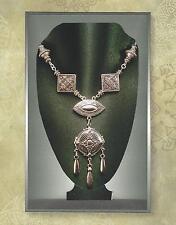 Art Nouveau Art Deco Silver Repousse Multi-Drop Pendant & Bead Necklace 3001