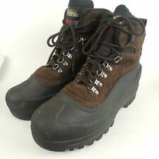 Itasca Ice Breaker Insulated Boot 642057 Mens Size 10 Brown Thinsulate Suede GUC