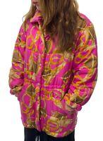 Authentic CELINE Vintage Logo Jacket Coat #40 Pink Gold Button Chain Rank B
