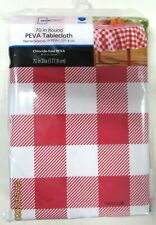 TABLE CLOTH...VINYL.. RED AND WHITE