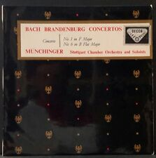DECCA SXLA 2125 WBG BACH BRANDENBURG CONC. 1 & 6 MUNCHINGER ORIG  AUS 1ST PRESS