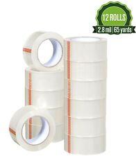 12 Rolls Heavy Duty Clear Packing Tape 28 Mil 188 X 180 Feet 60 Yards
