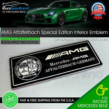 Affalterbach Black Chrome Aluminum Emblem Amg Special Edition Interior Badge