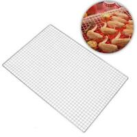 Barbecue Grill Stainless Steel Mesh Wire Net BBQ Meat For Campings Picnic Tool
