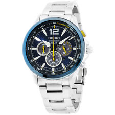 Movimiento seiko Core Solar Esfera Azul Reloj para hombres SSC505