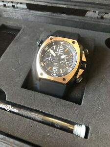Bell & Ross Watch BR 02 94 Marine Chronograph Rose Gold