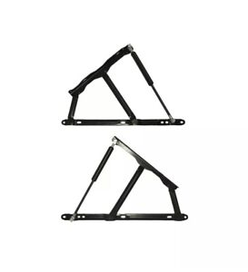 2 x Ottoman Storage Bed Lift Up Bed Hinge Mechanism and Gas Struts 600N and 800N