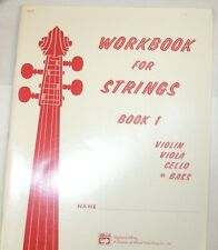 Workbook for Strings, Book 1 Bass Alfred Pub. Brand New