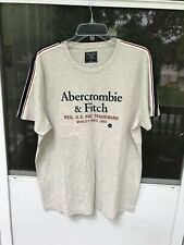 Abercrombie & Fitch Mens Short Sleeve Shirt T-Shirt GRAY SIZE XL
