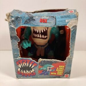 Vintage 1994 Street Sharks ROX Action Figure In Box w/ Guitar & Mic AS IS