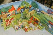 MULTIPLANS n° 7 NOS AMIS DE LA FERME Albums du Gai Moulin POP UP relief vintage