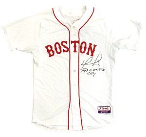"""David Ortiz Boston Red Sox Signed Authentic Jersey """"This is our F*N City"""" JSA"""