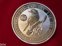 Australia. 1995 2oz - Silver Kookaburra..  Famine Privy Mark.  BU