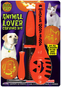 Animal Lover Halloween Activity Pumpkin Carving Kit With Stencils